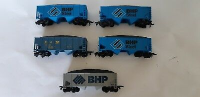 Tyco BHP & Other coal hoppers.  HO Scale. Excellent cond. 2 rail DC. No Box