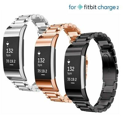 For Fitbit Charge 2 Stainless Steel watch Band Bracelet Strap Metal Wristband UK