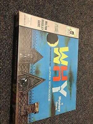 Vintage Board Game WHY presented by Alfred Hitchcock A Milton Bradley Game