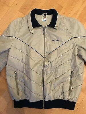 b25148b75341 ADIDAS Jacke Jacket 80er Oldschool Retro Vintage grau Made in Germany M S  44 46