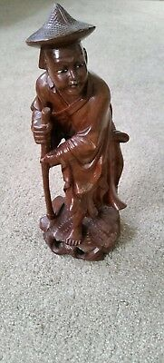 Chinese Vintage Hand Carved Wooden Figurine