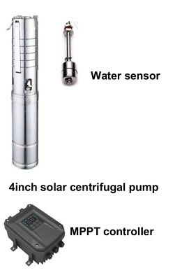 "3"" 4"" DC Submersible Well Solar Water Pump Stainless Impeller  MPPT Controller"