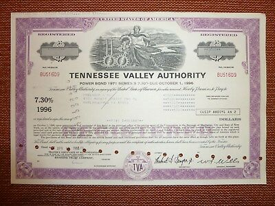 US: Tennessee Valley Authority, 5.000 $ Bond, 1988, ENERGIE