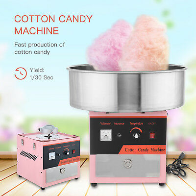 New Electric Cotton Candy Machine Tabletop Commercial Sugar Floss Maker Party