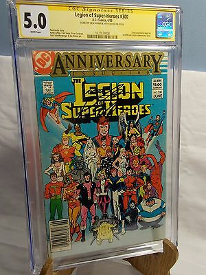 Legion Of Super-Heroes # 300 Cgc Ss 5.0 Signed By Neal Adams & Keith Giffen 9/16