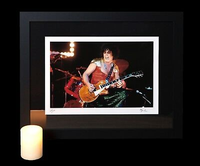 Rare Marc Bolan T. Rex in concert Large Framed Fine Art Collectors Photo New