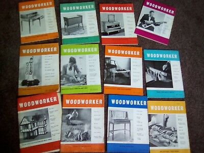 The Woodworker Magazine 12 Issues Jan 1930 Dec 1930 Vgc Vintage