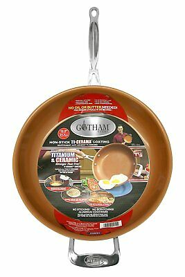 "Gotham Steel 9950 Non-Stick Titanium Frying Pan, 12.5"", Brown"