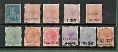 Mauritius 11 Early Stamps   H/m   (Y158)