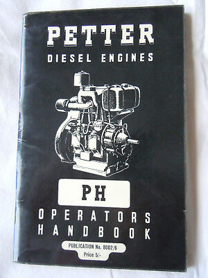 @Vintage Petter Diesel Engines PH Operators Handbook@