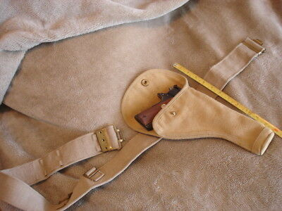 British Canvas Holster. 1943. Original. With belt 1911