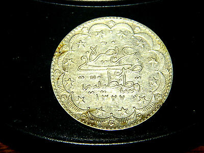 Turkey, silver 20 kurush, 1327 year 9, 1918 AU. 0.642 ounce of silver. Y51.