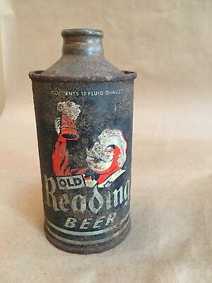 Old Reading Beer Gus J Spout Cone Top Beer Can 12 Oz Reading Pa