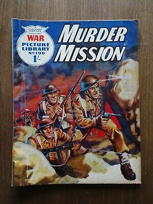 1963 War Picture Library comic no.196 - great for age: see photo!
