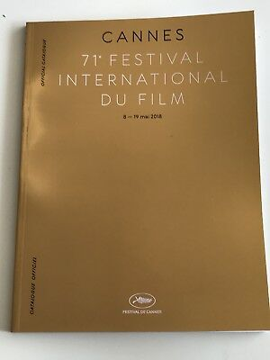 Cannes Film Festival 2018 Official Catalogue Gold Perfect Conditon