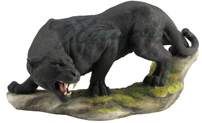 Prowling Black Panther Statue Sculpture Figurine - GIFT BOXED