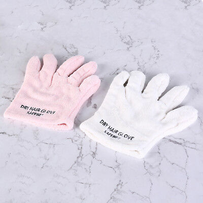 quick dry hair gloves strong absorbent coral fleece thickening hair towelwipe *