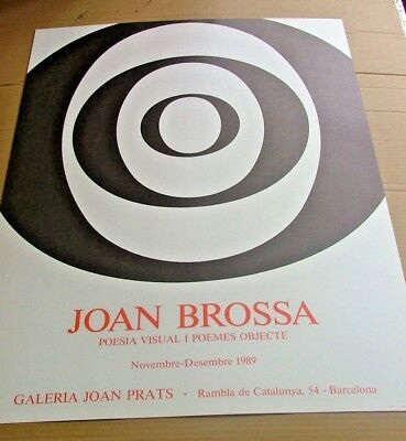Joan BROSSA litho ABSTRACT print poster 1989 OP ART POP rare vintage BIG