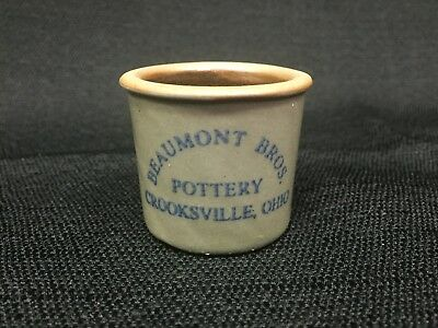Crock Pottery Antique Stonewar Vintage Miniature Beaumont Bros Doll House Small