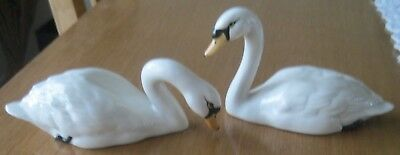 Beswick Swan Family - 2 Adults and 2 Cygnets