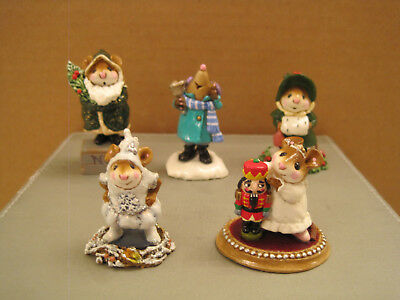Wee Forest Folk Lot of 5 Assorted Christmas pieces