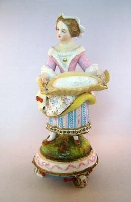 Fine Victorian Bisque Porcelain Figure: French C.1860-90 : Marked CF