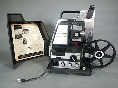 VINTAGE BELL HOWELL Dual/Lectric 465 8mm film projector- Reel, Splicer