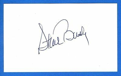 Steve Busby MLB Baseball Pitcher Threw 2 NO Hitters Signed 3x5 Index Card C2958