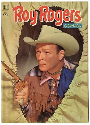 Roy Rogers #55 FN 6.0 ow/white pages  Photo Cover  Dell  1952  No Reserve