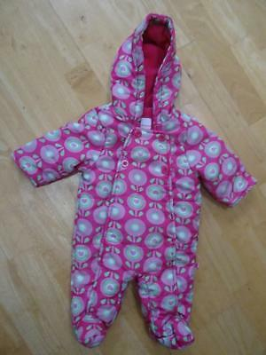 548b1f67b BLUEZOO BABY GIRLS pink green pattern padded snowsuit all in one AGE ...