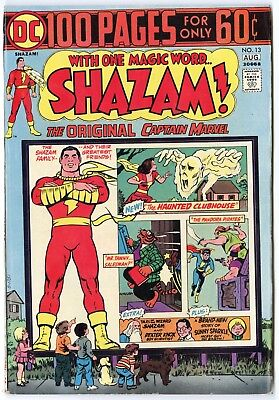 Shazam! #13 VF+ 8.5 ow/white pages  Captain Marvel  100 Page Giant  DC  1974