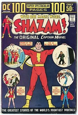 Shazam! #8 VF+ 8.5 white pages  Captain Marvel  100 Page Giant  DC 1973  No Resv