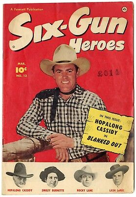 Six-Gun Heroes #13 VG/FN 5.0 ow/white pages  Photo-c  Fawcett  1952  No Reserve