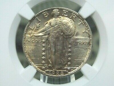 "1928 ""P"" Standing Liberty Quarter 25c NGC MS63 FH ""Full Head"" ECC&C, Inc."