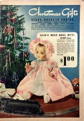 1940 Sears Wish Book / Christmas Catalog On DVD Disc See Pictures Toys & More