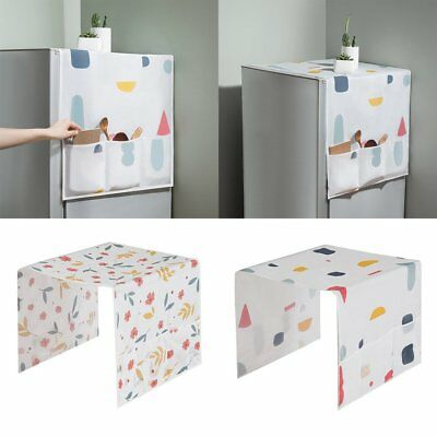 Household Refrigerator Dust Cover with Storage Bags for Kitchen Supplies  HU