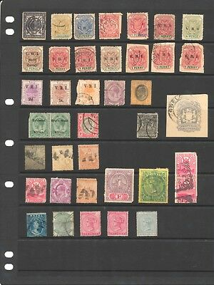 37 stamps lot South African Republic Orange Free State Transvaal Good Hope Natal