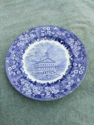 Antique 1930 Wedgwood Faneuil Hall Plate SIGNED James M Curley Mayor Boston Mass