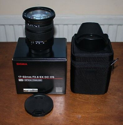 Sigma 17-50mm f/2.8 EX DC OS for Canon EF-S Mount  (Boxed) - Excellent Condition