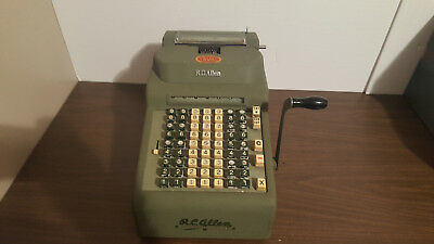 R.C allen visiomatic adding machine AS IS