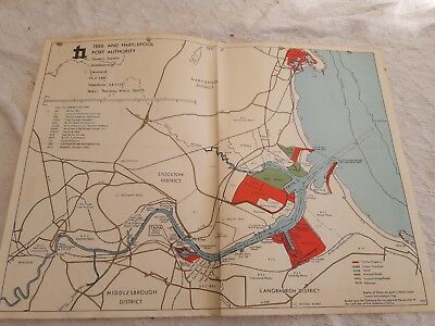 Tees and Hartlepool Port Authority map 1975
