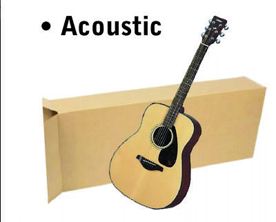 "20x8x50"" Acoustic Guitar Shipping Packing Boxes Moving Keyboard Heavy Duty"