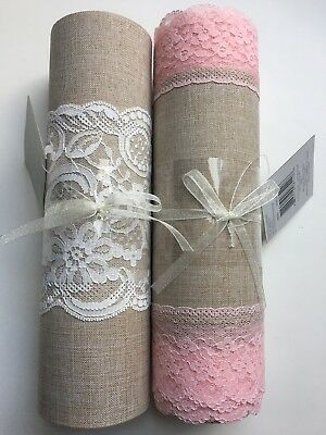 NWT Celebrate It Aria Vintage Blush Rose Antique Extra Wide Ribbons