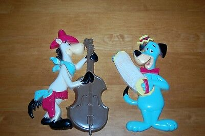 Vintage Hanna Barbera Huckleberry Hound & Quick Draw Mcgraw Wall Plaques