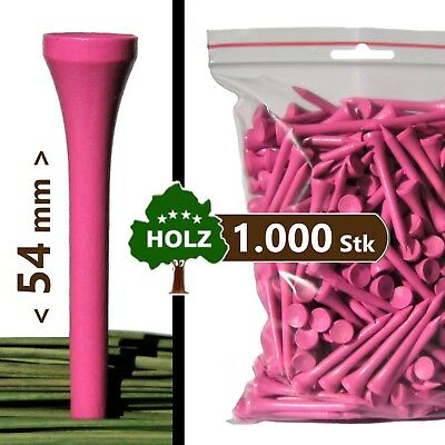 GOLF-TEES | Holz - 54 mm - pink | 1000 ... 5000 Stk | V1.000 wood tees (Pro)