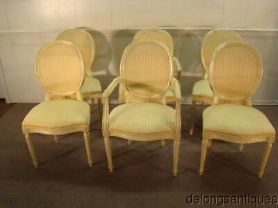 Hickory Chair French Style Set of 6 Dining Chairs