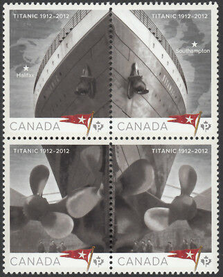TITANIC = se-tenant block of 4 stamps MNH Canada 2012 #2534a