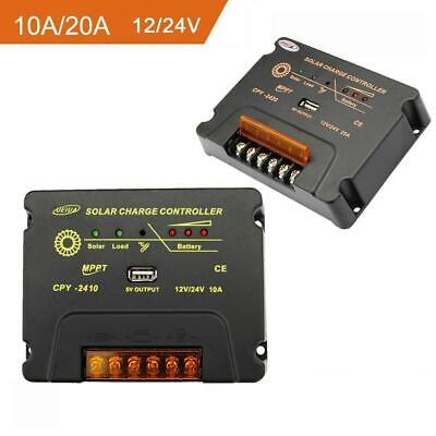 10A/20A LCD MPPT Solar Panel Battery Regulator Charge Controller 12V 24V Auto IN