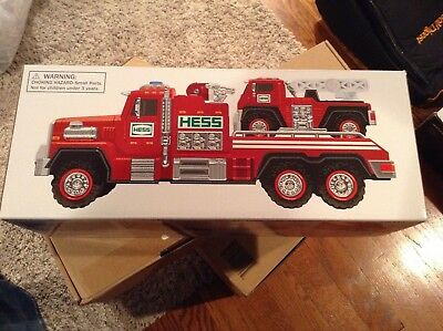 2015 Hess Fire Truck and Ladder Rescue New In Original Box!!