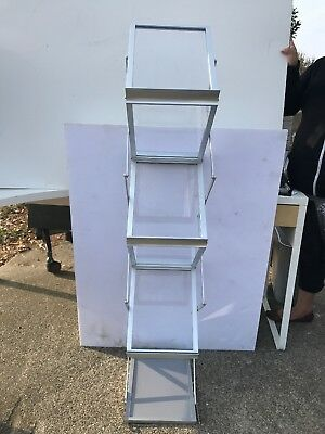 Sign Talk Zigzag Pocket Magazine Rack Stand Trade Show Display w/Aluminium Case